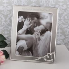 Personalised Satin Heart 8x10 Photo Frame
