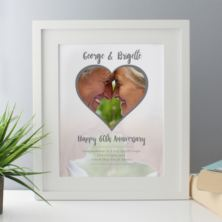Personalised Diamond Wedding Anniversary Framed Photo Print