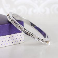 Two Tone Mum Friend Hinged Bangle In Personalised Box