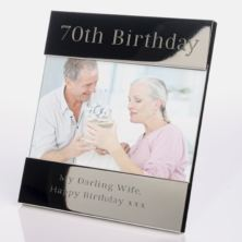 Engraved 70th Birthday Photo Frame