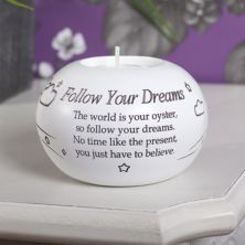 Follow Your Dreams Tea Light Candle Holder