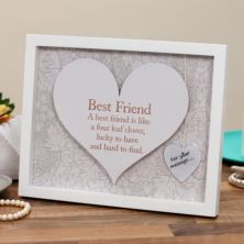 Best Friend Sentiment Heart Art Frame
