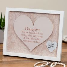 Daughter Sentiment Heart Art Frame