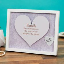 Family Sentiment Heart Art Frame