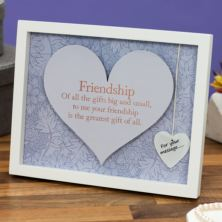 Friendship Sentiment Heart Art Frame