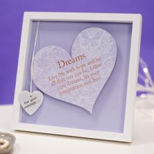 Dreams Sentiment Heart Art Frame