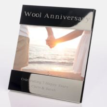 engraved 7th wool anniversary photo frame