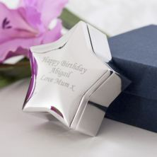Personalised Star Shaped Trinket Box