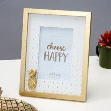 Touch of Gold Pineapple Photo Frame