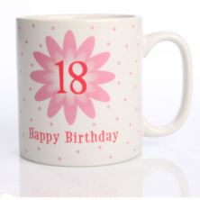 Pink Flower Birthday Mug