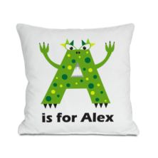 Personalised Children's Alphabet Monster Cushion