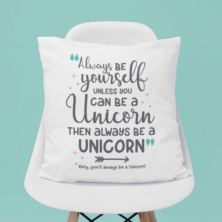 Personalised Always Be A Unicorn Cushion