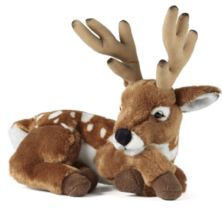Living Nature Deer With Antlers Soft Toy