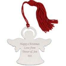 Engraved Angel Hanging Ornament