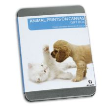 Animal Prints on a Canvas Gift Box