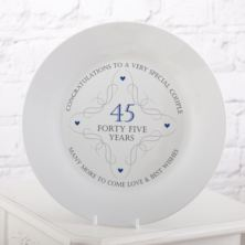 45th Anniversary Plate