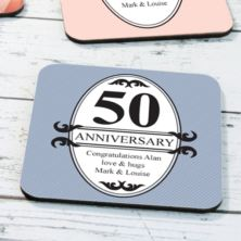 Personalised Pair Of Anniversary Coasters