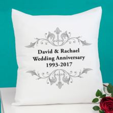 Personalised Anniversary Cushion
