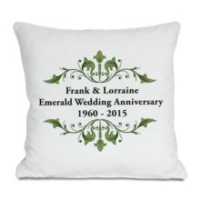 Personalised Emerald Anniversary Cushion