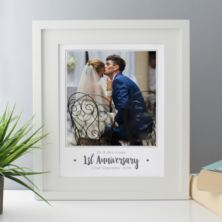 Personalised First Anniversary Photo Framed Print