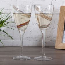 Anton Studio Designs Arc Swirl Wine Glasses