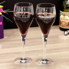 Pair Of Personalised 24% Lead Crystal Luxury Shard Wine Glasses