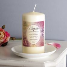 Personalised Floral Design Auntie Candle