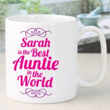 Best Auntie In The World Personalised Mug