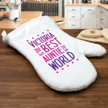 Best Auntie In The World Personalised Oven Glove