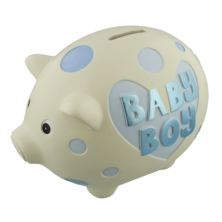 Baby Boy Large Piggy Bank