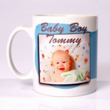 Personalised Baby Boy Photo Mug