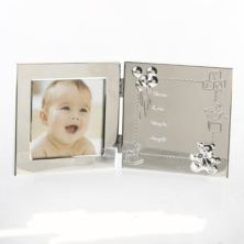 Personalised Silver Plated Baby Details Frame