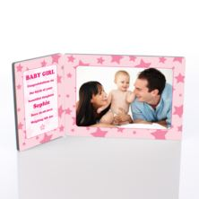 Baby Girl Photo Message Plaque