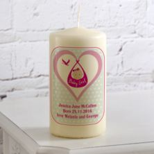 Personalised Birth Candle