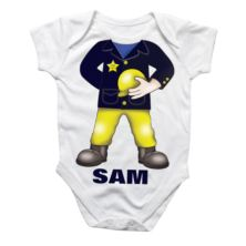 Personalised Fireman Baby Grow