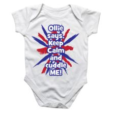 Personalised Keep Calm Baby Grow
