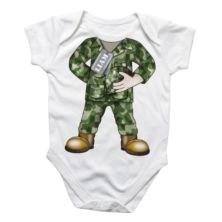 Personalised Army Baby Grow