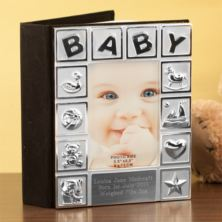 Personalised Silver Plated Baby Album