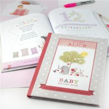 Personalised Baby Record Book for a Girl