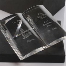 Personalised Crystal Baptism Bible