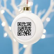 Personalised Barcode Christmas Bauble