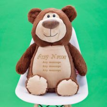 Personalised Embroidered Cubbies Jumbo Brown Bear Soft Toy