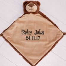 Personalised Embroidered Cubbies Brown Bear Snuggle Blankie