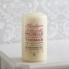 Personalised Beautiful Bridesmaid Wedding Candle