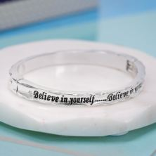 Believe in Yourself Bangle in Personalised Box
