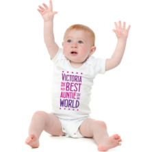 Best Auntie Personalised Baby Grow