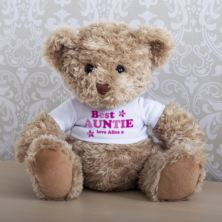 Personalised Best Auntie Teddy Bear