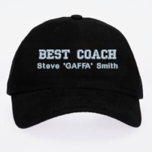 Personalised Embroidered Best Coach Cap