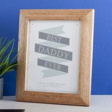 Personalised Best Daddy Ever Banner Framed Print