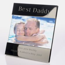 Engraved Best Daddy Photo Frame